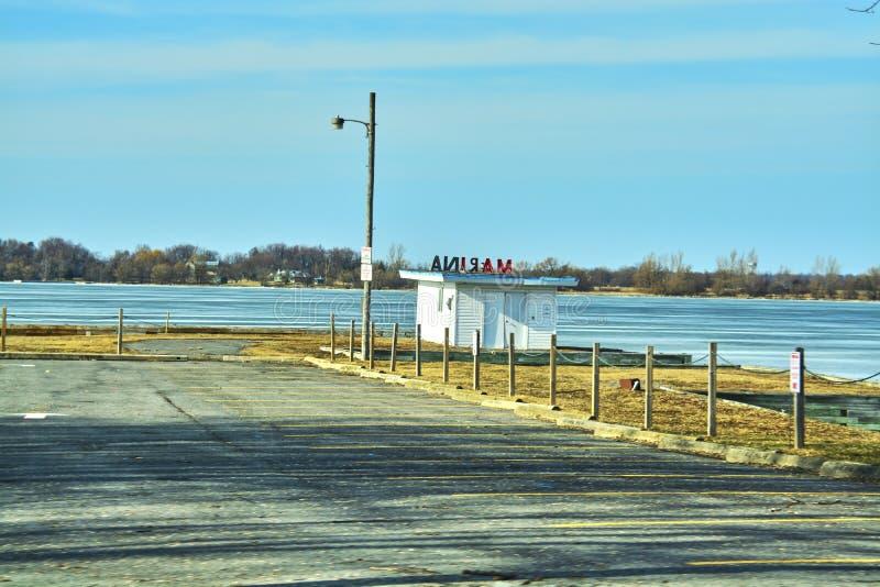 Winteransichten von Kanada stockfotografie