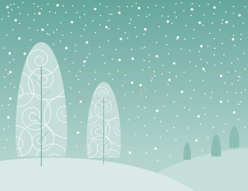 Winterbäume vektor abbildung