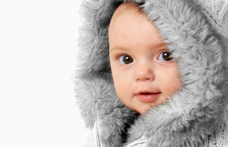 Winterbaby stockfoto