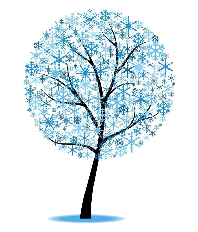 Winterbaum stock abbildung