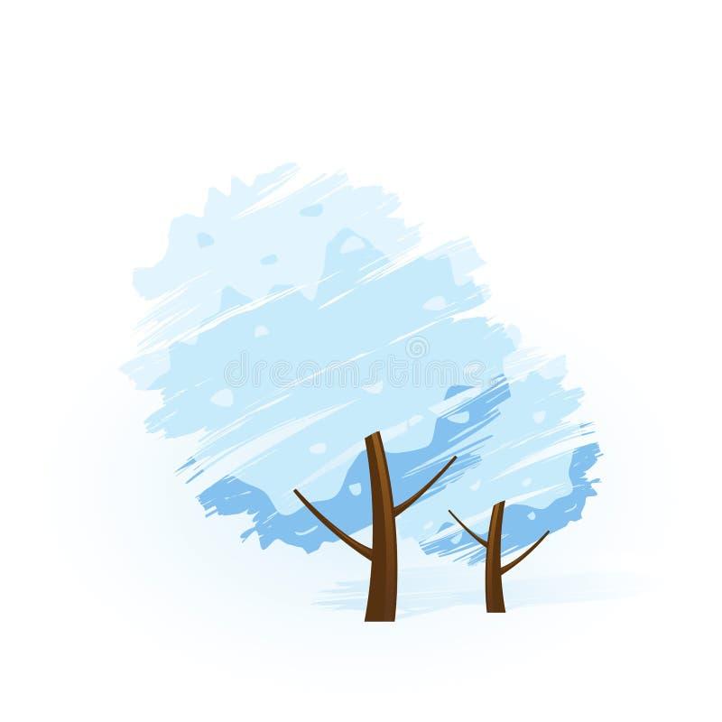 Winterbaumikone stock abbildung