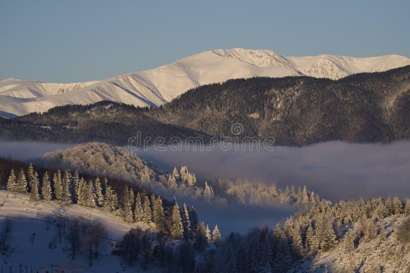 Winterberglandschaft stockbilder