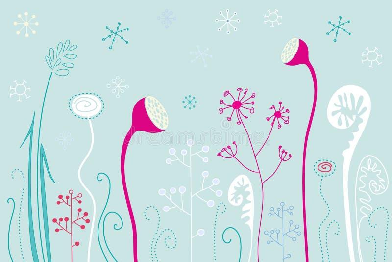 Winterblumen stock abbildung
