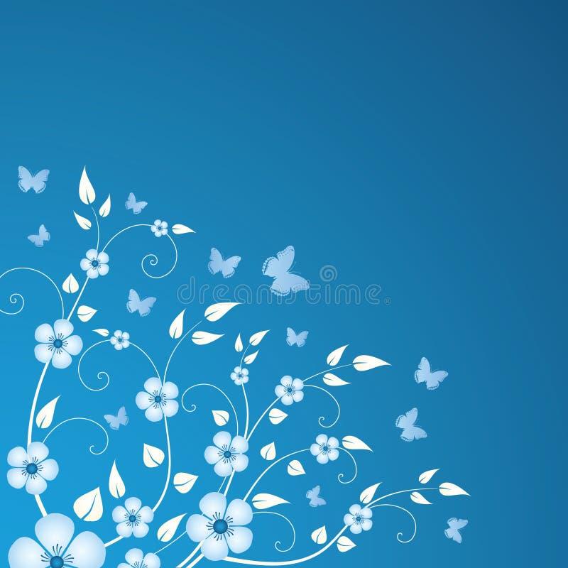 Winterblumenhintergrund lizenzfreie abbildung