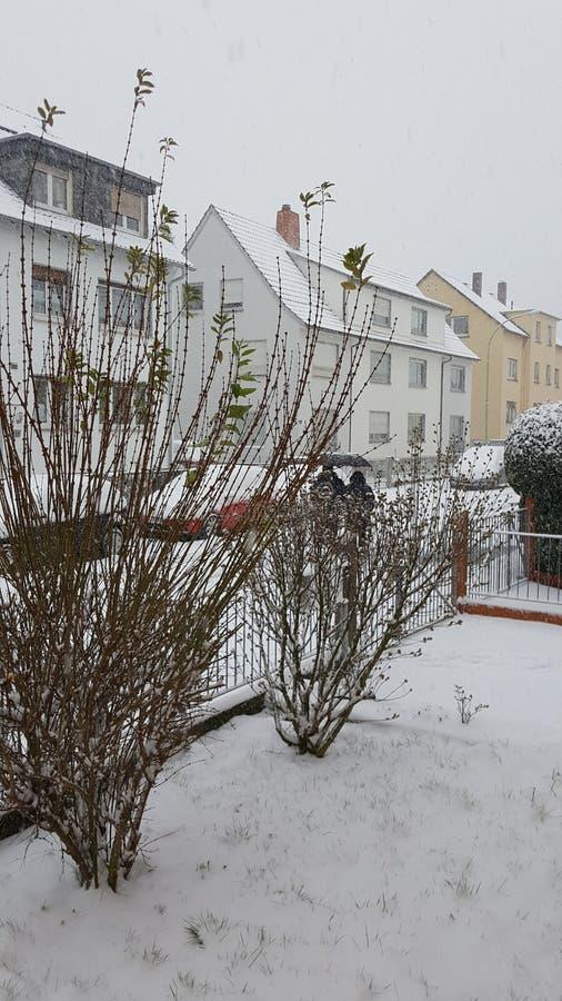 Winterday,房子 库存图片