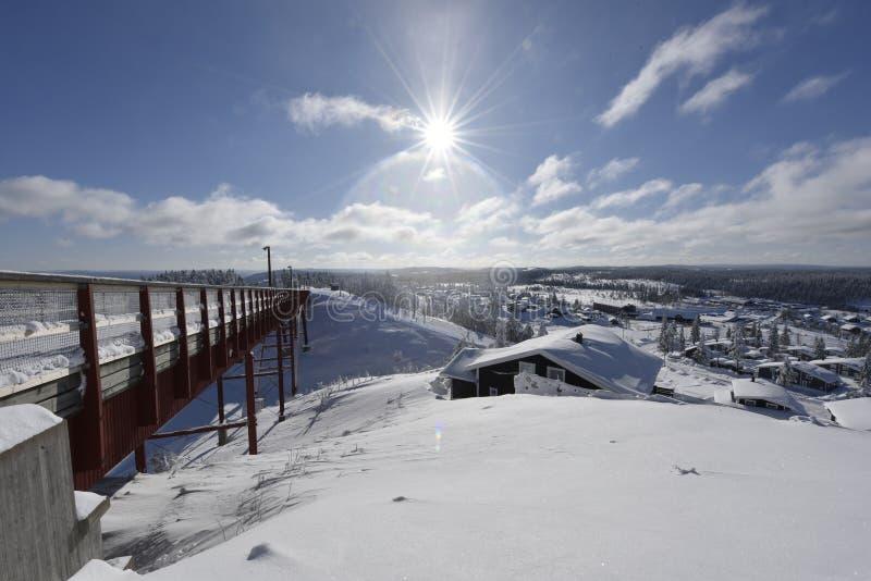 Winterday ensolarado na Suécia imagem de stock royalty free