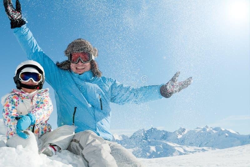 Wintereuphorie stockbilder