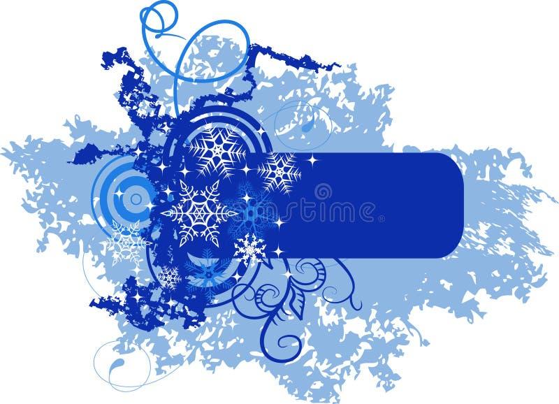 Winterfahne mit Schneeflocken vektor abbildung