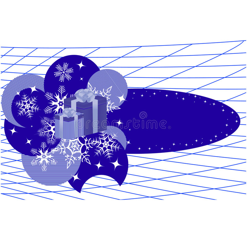 Winterfahne mit Schneeflocken stock abbildung