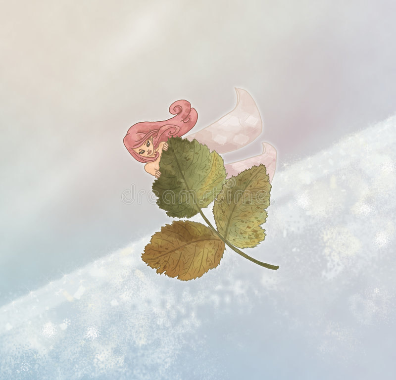 Winterfee stock abbildung