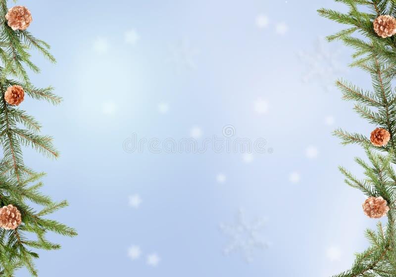 Winterfeiertagshintergründe lizenzfreie abbildung