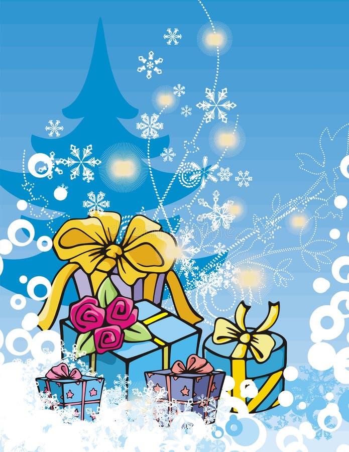 Winterfeiertagsserie vektor abbildung
