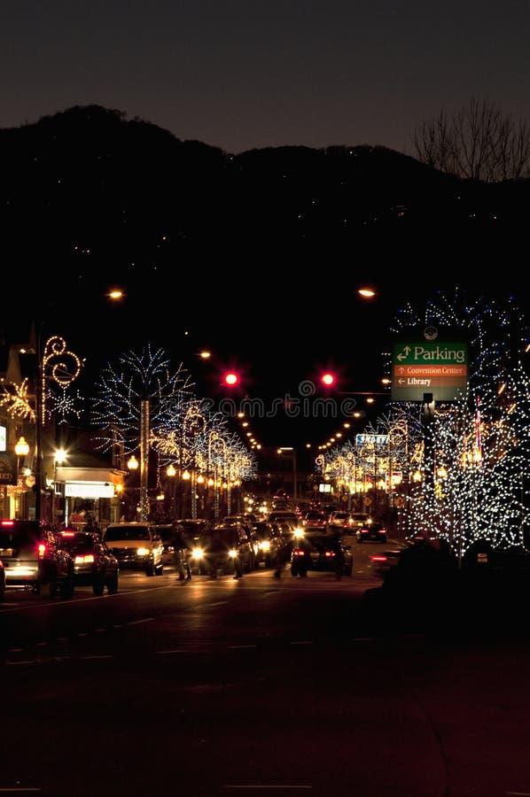 Winterfest Lights, Gatlinburg royalty free stock photo