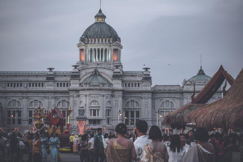 Winterfestival an Landhaus Bangkok Thailand Amphorn Satharn lizenzfreie stockfotografie