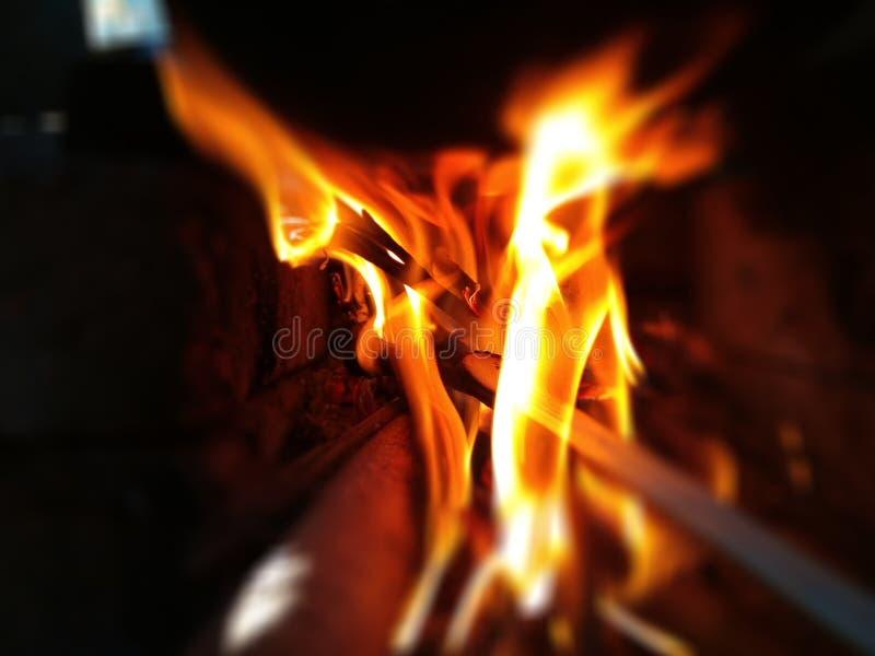 Winterfeuerlager 📠¥ stockfoto