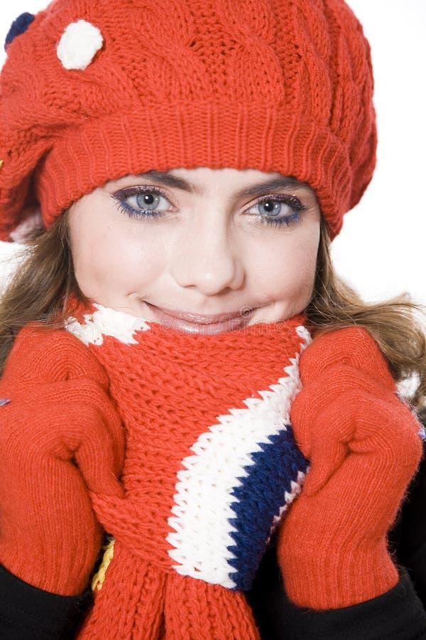 Winterfrau lizenzfreie stockfotografie