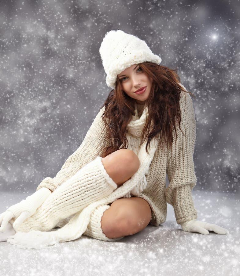 Winterfrau stockfotos