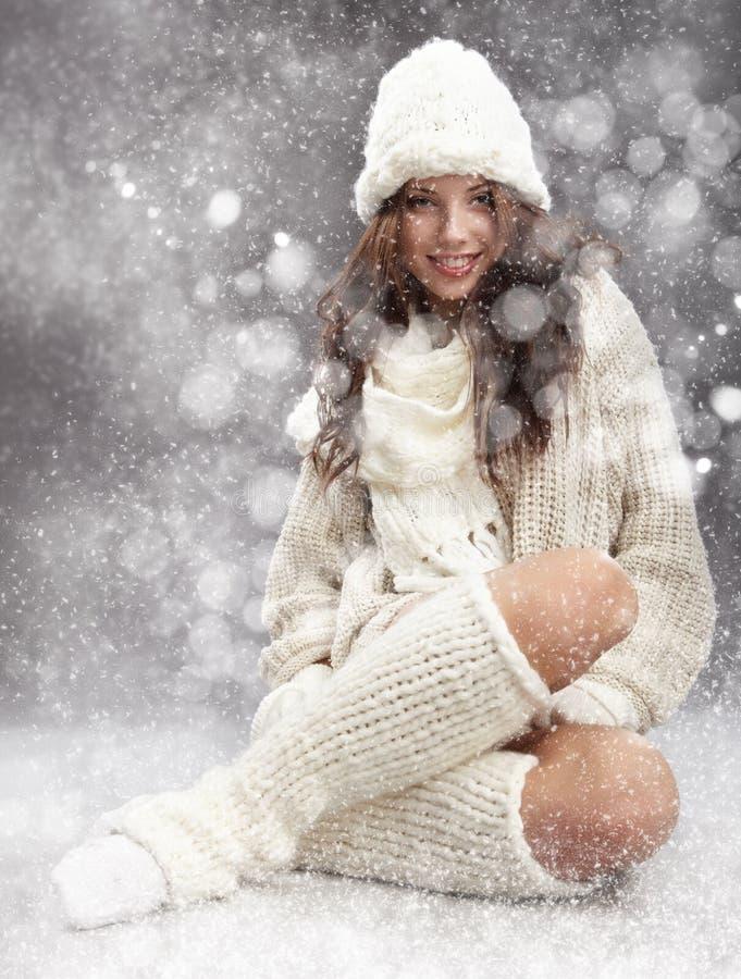Winterfrau stockbilder