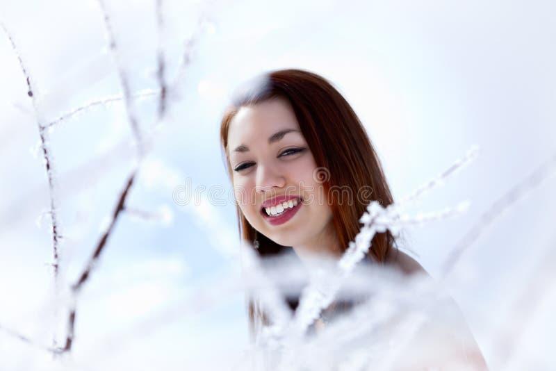 Winterfrau lizenzfreie stockfotos