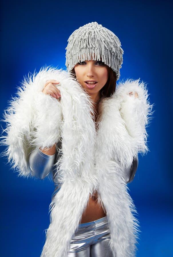 Winterfrau, Fantasieart und weise lizenzfreies stockfoto