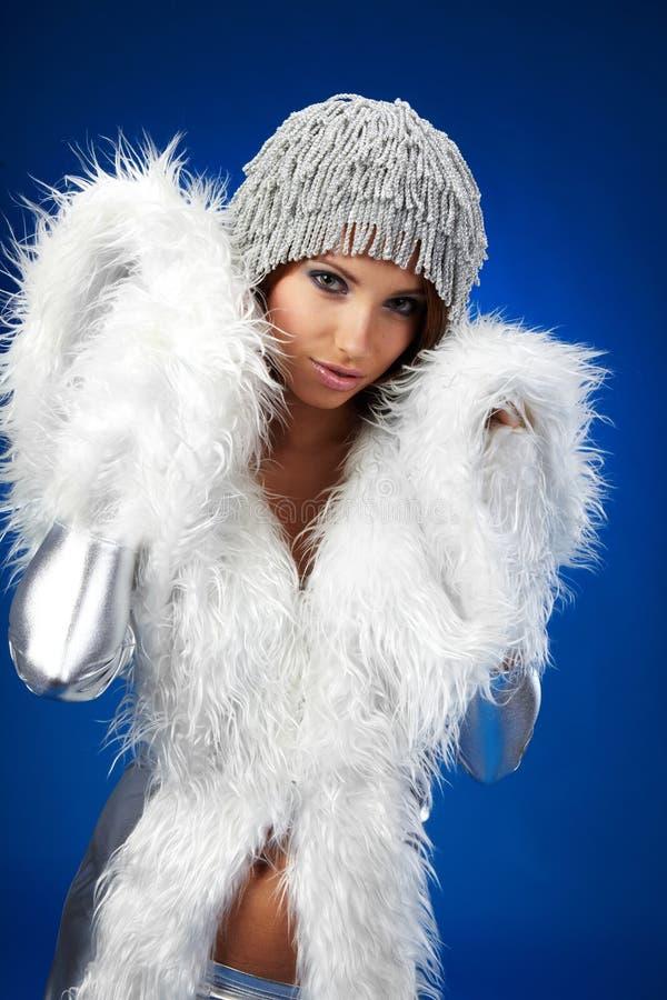 Winterfrau, Fantasieart und weise stockbild