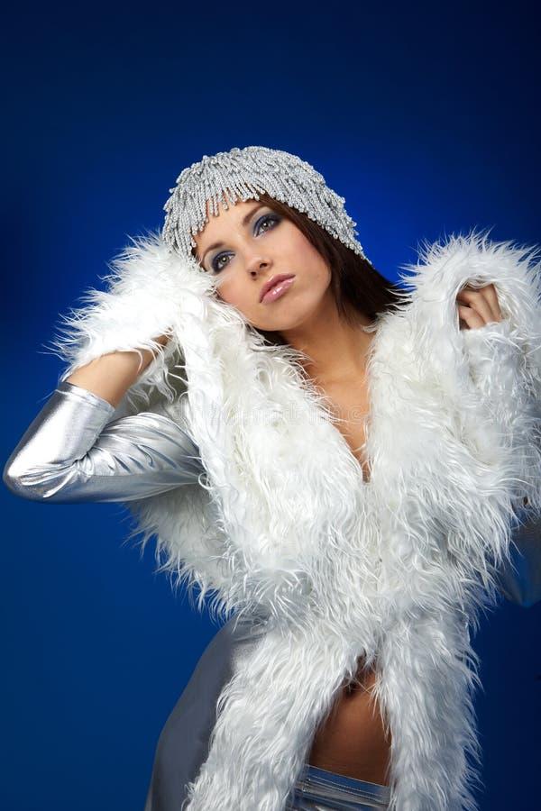 Winterfrau, Fantasieart und weise stockfotografie