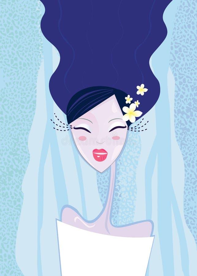 Download Winterfrauentyp vektor abbildung. Illustration von kosmetik - 12202959