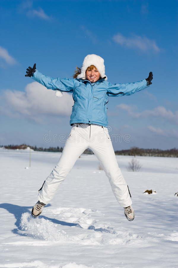 Winterfun stockfotografie