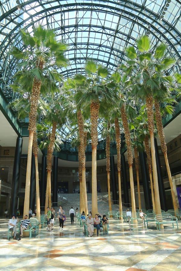 Wintergarden του παγκόσμιου οικονομικού κέντρου στοκ εικόνες