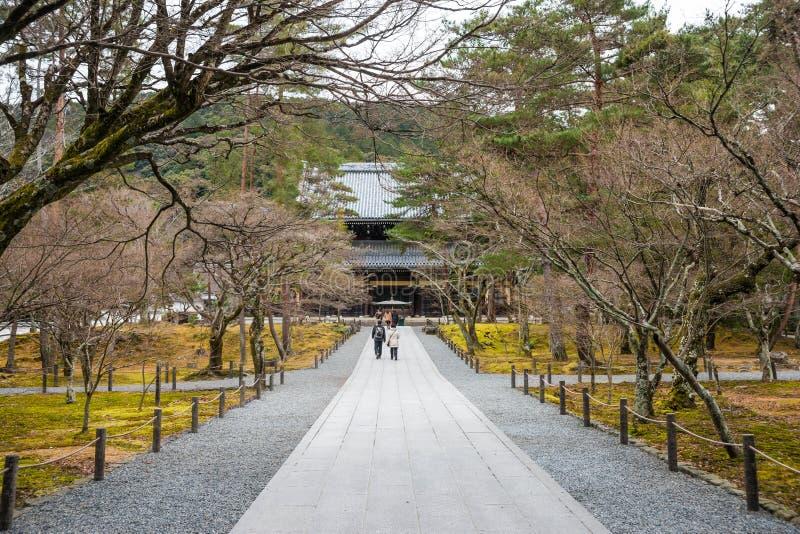 Wintergarden em Kyoto Japão imagens de stock royalty free