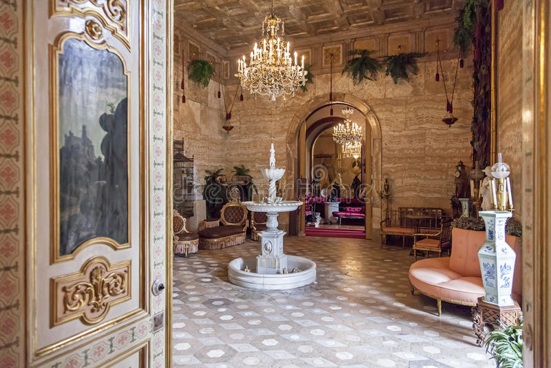 WintergardenAjuda nationell slott Lissabon royaltyfria foton