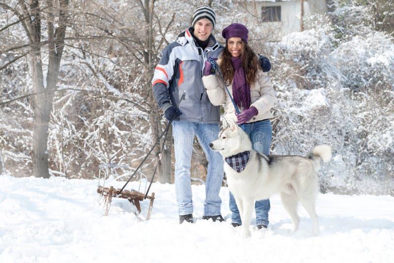 Wintergehen stockfotos