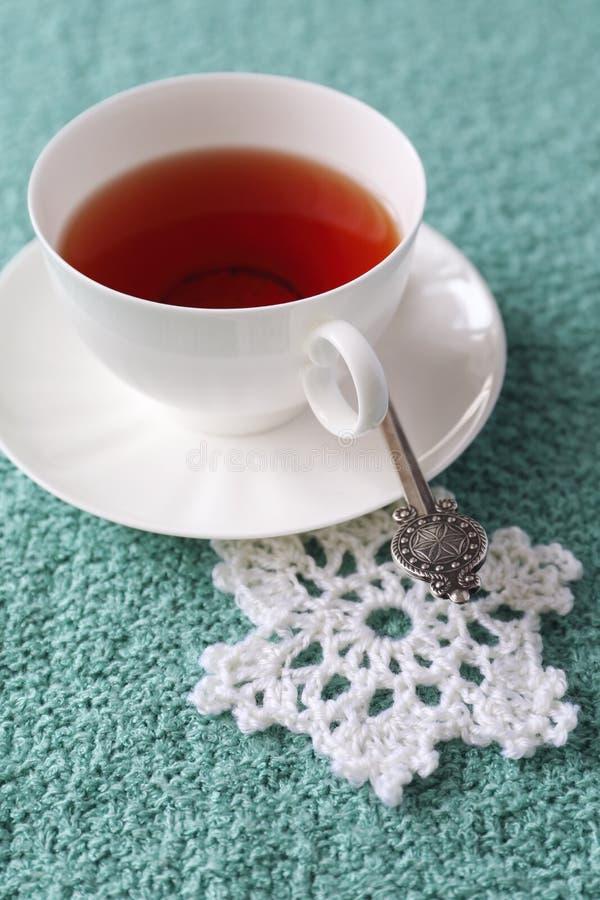 Wintergetränk: Gewürzter schwarzer Tee stockfotos