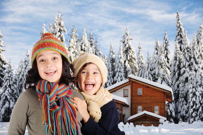 Winterglück lizenzfreie stockfotos
