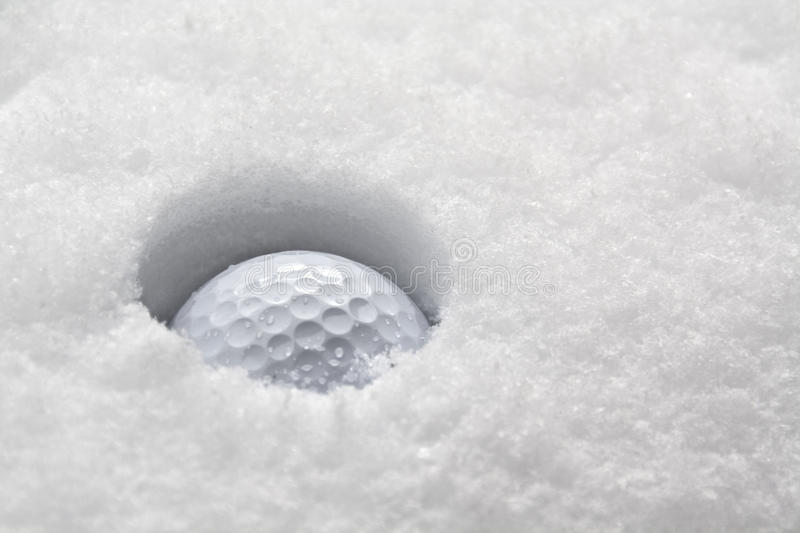 Wintergolf lizenzfreie stockfotografie