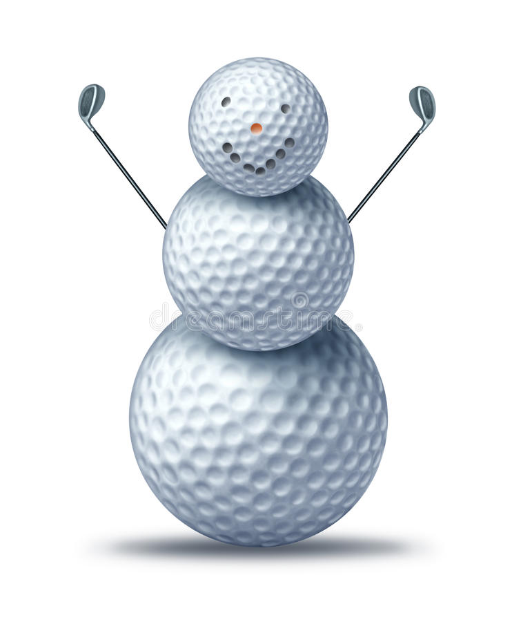 Wintergolf spielen lizenzfreie abbildung
