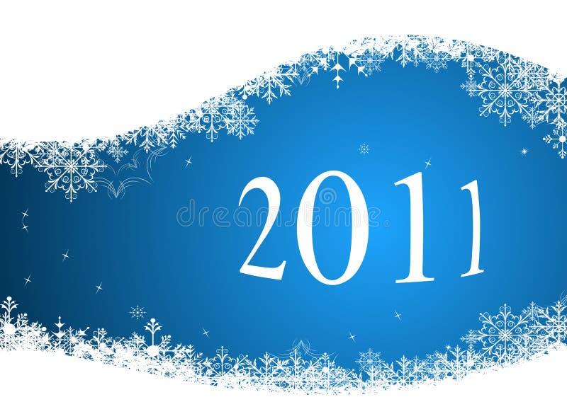 Winterhintergrund 2011 lizenzfreie abbildung