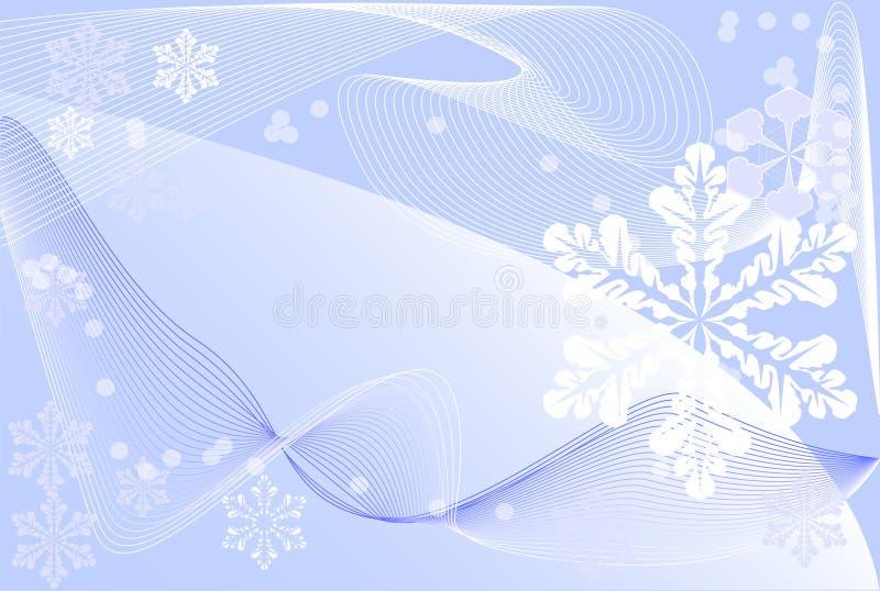 Winterhintergrund stock abbildung
