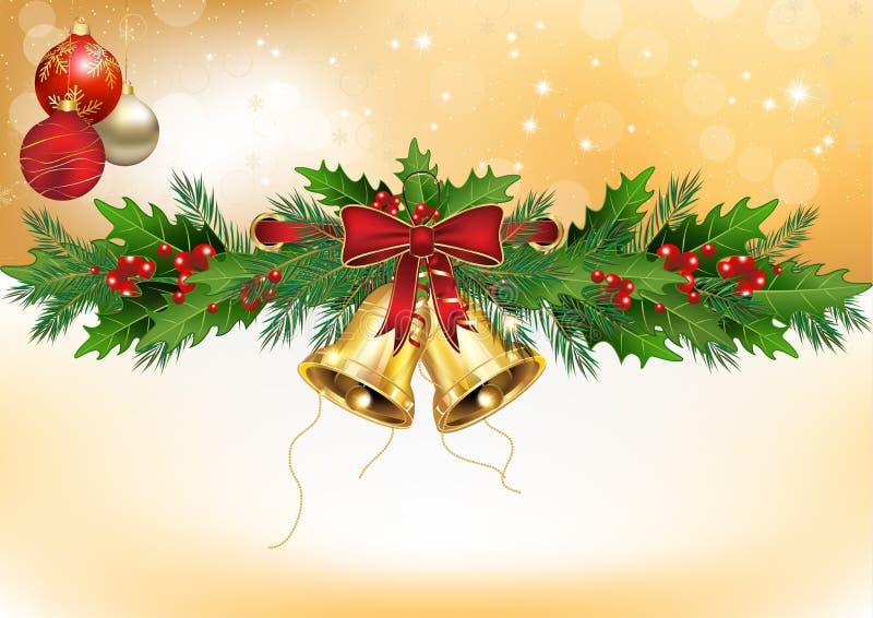 Winterhintergrund mit Weihnachtsdekorationen lizenzfreie abbildung