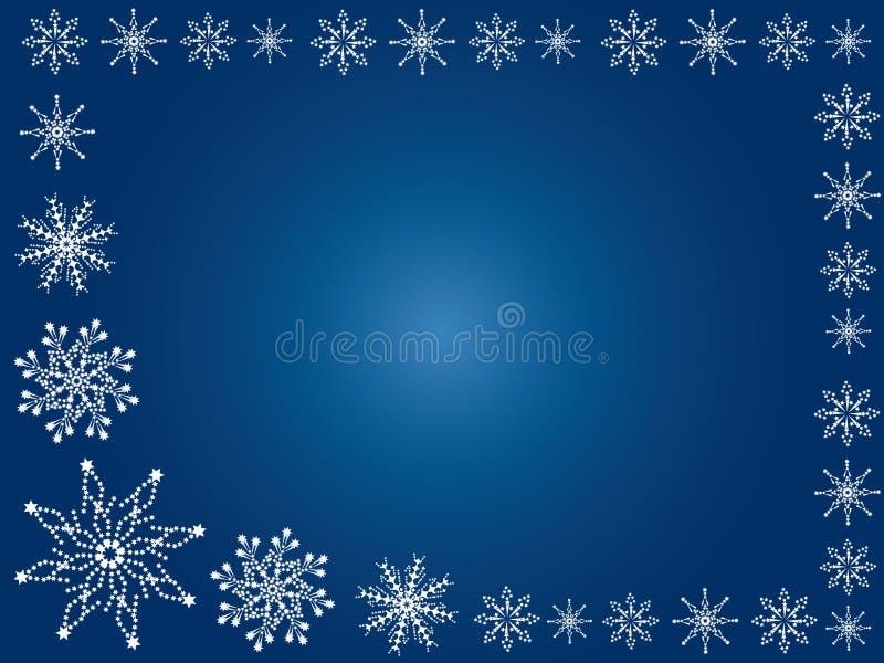 Winterhintergrund. Schneeflocken. stock abbildung