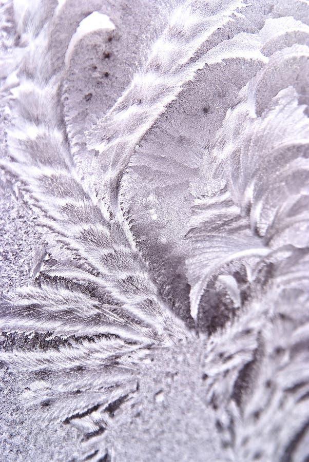 Winterhintergrund von Hoar-frost auf Fenster stockfoto