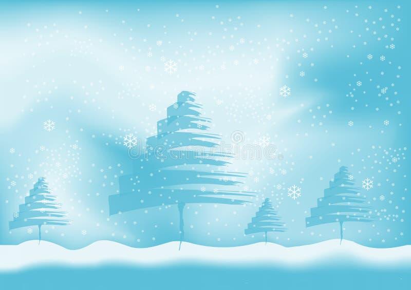 Winterhintergrundvektor stock abbildung