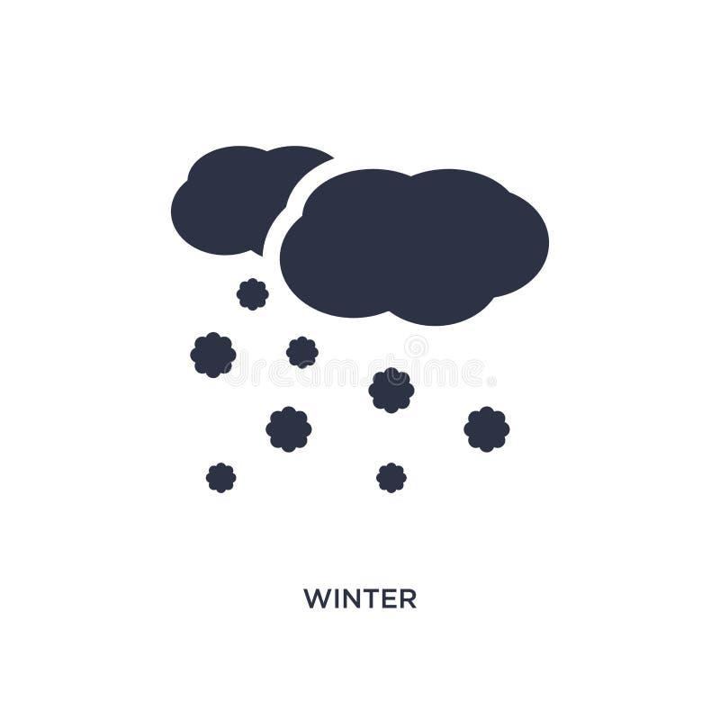 Winterikone auf weißem Hintergrund Einfache Elementillustration vom Meteorologiekonzept stock abbildung
