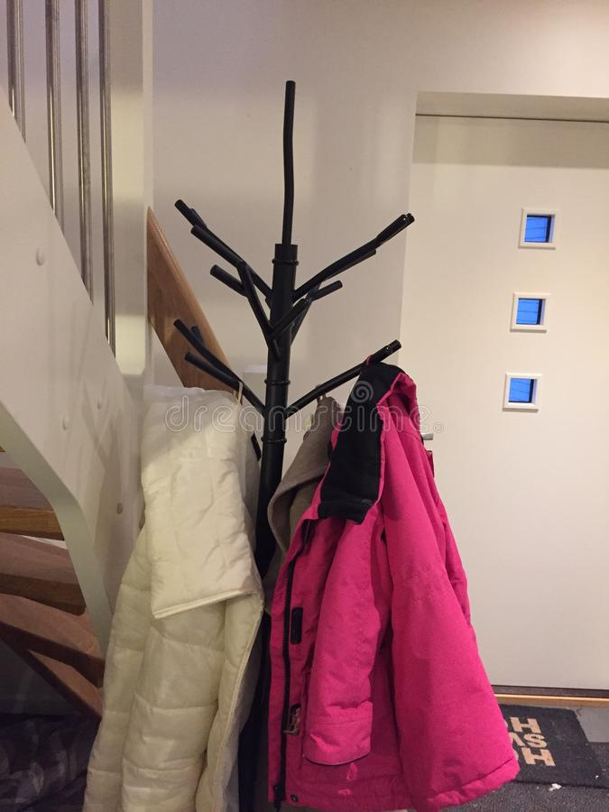 Winterjackets royalty-vrije stock afbeelding