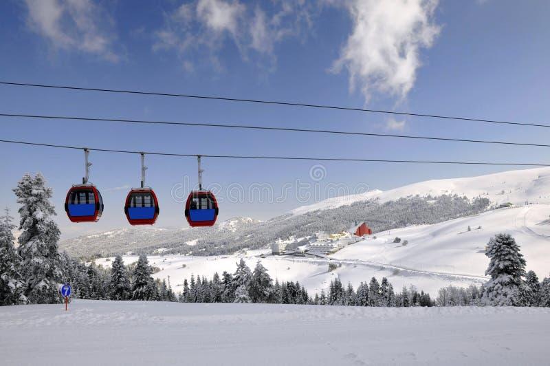 Winterjahreszeit und Bursa stockbild