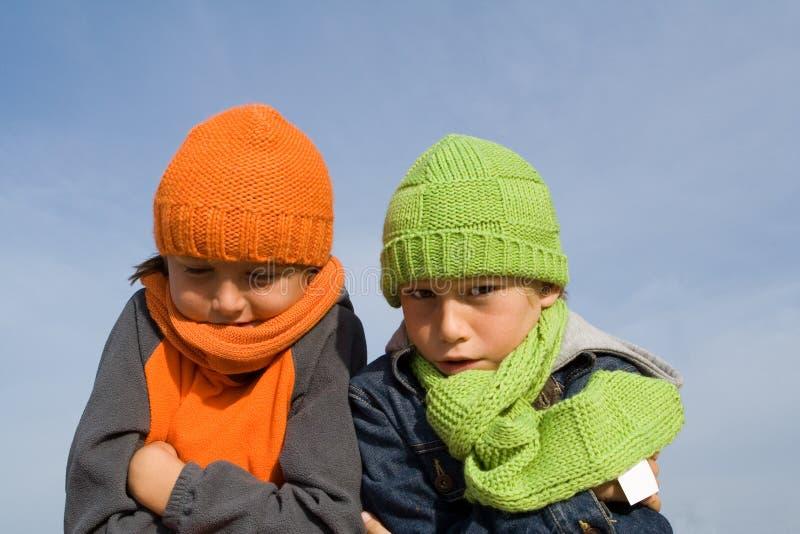 Winterkinder lizenzfreies stockbild