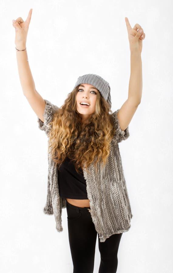 Winterkleid für ein Anzeichen lizenzfreies stockfoto