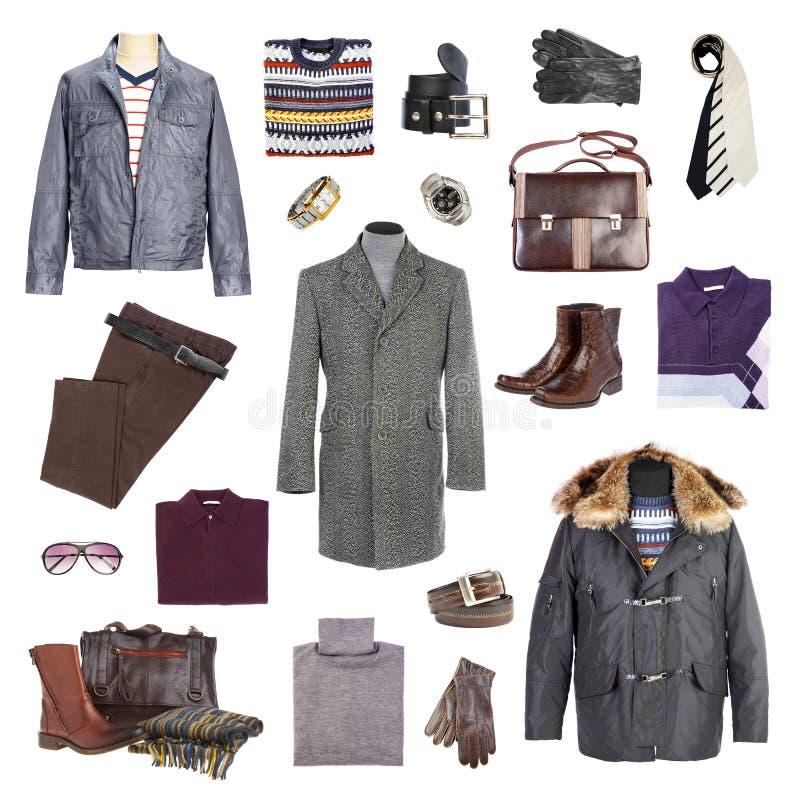 Winterkleidung des Mannes lizenzfreies stockbild