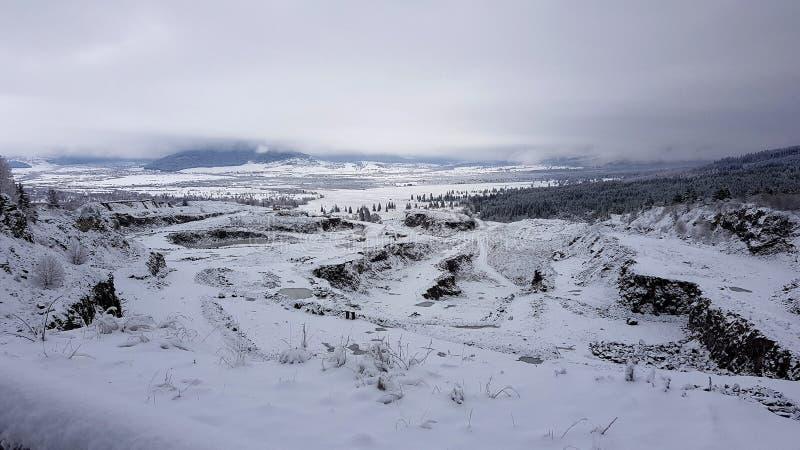 Winterland in Harghita-Provincie Roemenië stock afbeeldingen