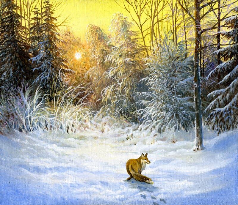 Winterlandschaft stockfoto